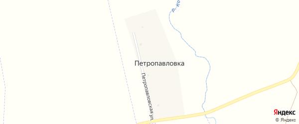 Петропавловская улица на карте деревни Петропавловки с номерами домов