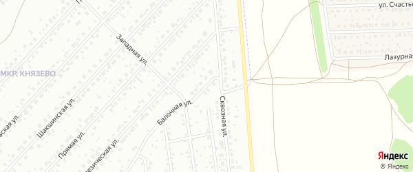 Балочная улица на карте Уфы с номерами домов