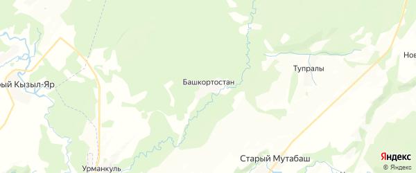 Карта Ключевского сельсовета республики Башкортостан с районами, улицами и номерами домов