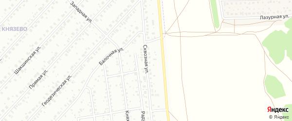 Сквозная улица на карте Уфы с номерами домов
