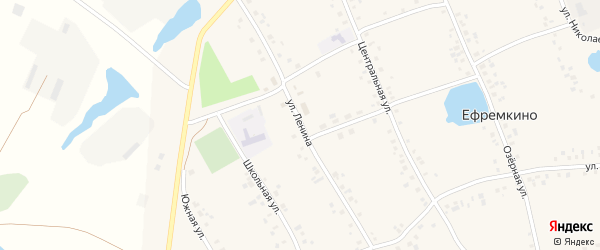 Улица Ленина на карте села Ефремкино с номерами домов