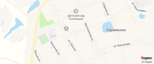 Улица 70 лет Октября на карте села Ефремкино с номерами домов