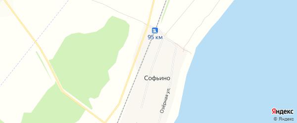 Карта деревни Софьино в Башкортостане с улицами и номерами домов