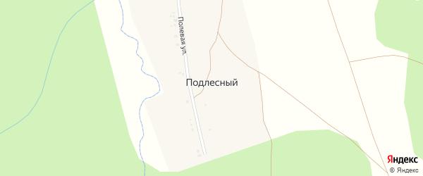 Полевая улица на карте Подлесного хутора с номерами домов