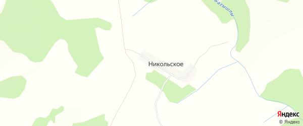 Карта деревни Никольского в Башкортостане с улицами и номерами домов