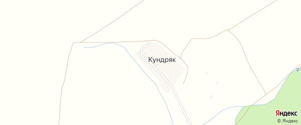 Центральная улица на карте деревни Кундряка с номерами домов