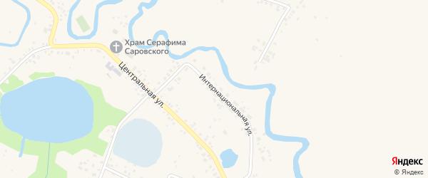 Интернациональная улица на карте села Русского Юрмаша с номерами домов