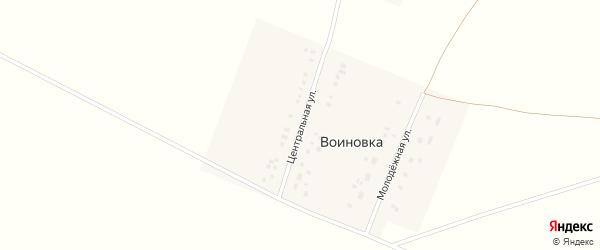 Центральная улица на карте деревни Воиновки с номерами домов