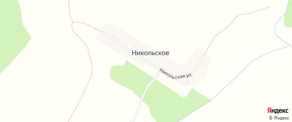 Никольская улица на карте деревни Никольского с номерами домов