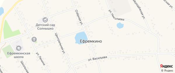 Озерная улица на карте села Ефремкино с номерами домов