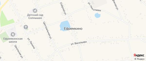 Луговая улица на карте села Ефремкино с номерами домов