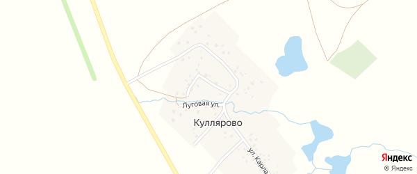 Луговая улица на карте деревни Куллярово с номерами домов