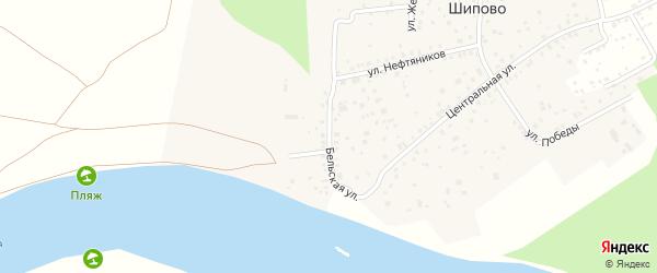 Бельская улица на карте деревни Шипово с номерами домов