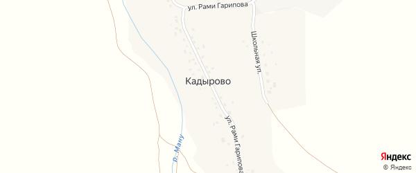 Школьная улица на карте деревни Кадырово с номерами домов