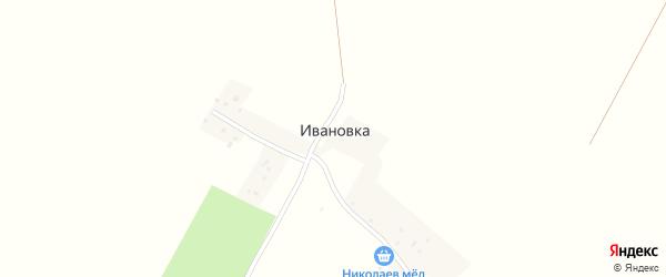 Центральная улица на карте деревни Ивановки с номерами домов
