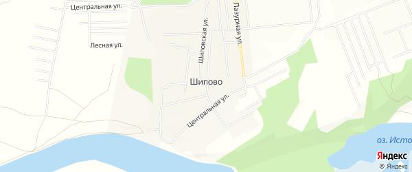 СТ СО Гея на карте деревни Шипово с номерами домов