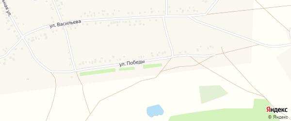 Улица Победы на карте села Ефремкино с номерами домов