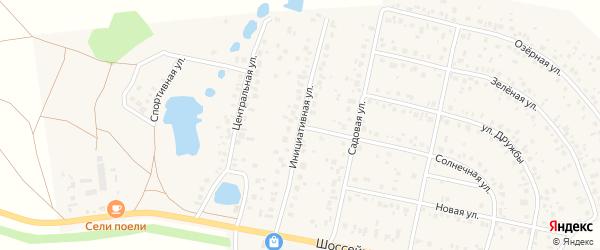 Инициативная улица на карте деревни Дорогино с номерами домов