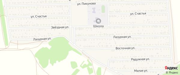 Лазурная улица на карте деревни Дорогино с номерами домов