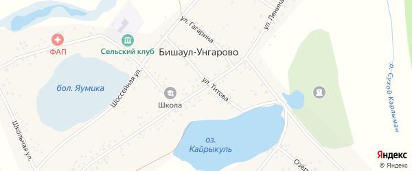 Улица Ленина на карте деревни Бишаул-Унгарово с номерами домов