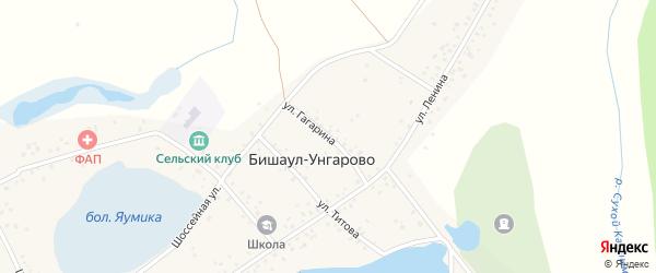 Улица Гагарина на карте деревни Бишаул-Унгарово с номерами домов