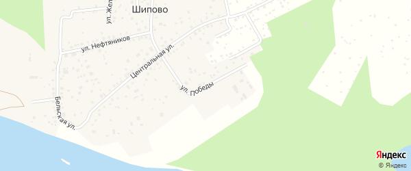 Улица Победы на карте деревни Шипово с номерами домов