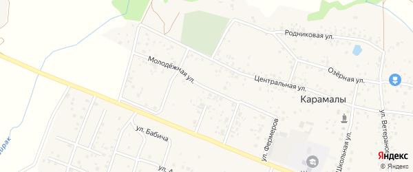 Молодежная улица на карте села Карамалы с номерами домов