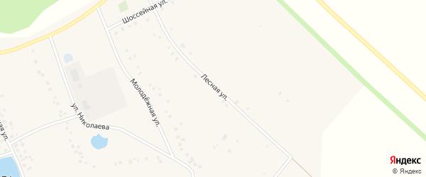 Лесная улица на карте села Ефремкино с номерами домов