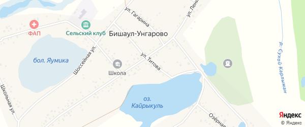 Улица Титова на карте деревни Бишаул-Унгарово с номерами домов