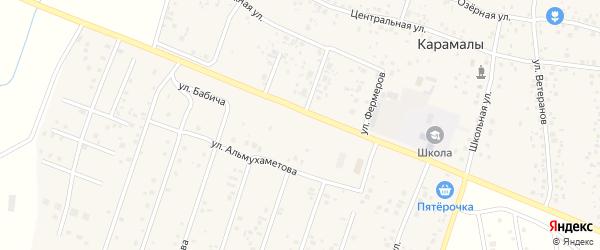 Улица Шайхзады Бабича на карте Уфы с номерами домов