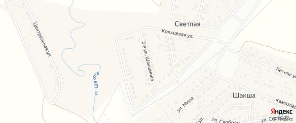 Шакшинка 2-я улица на карте Светлой деревни с номерами домов