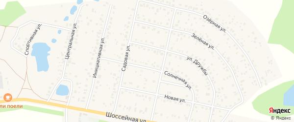Солнечная улица на карте деревни Дорогино с номерами домов