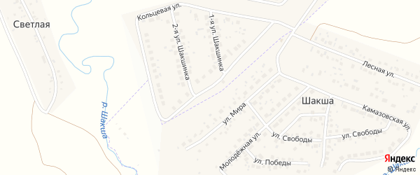 Кольцевая улица на карте Светлой деревни с номерами домов