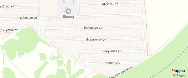 Восточная улица на карте деревни Дорогино с номерами домов