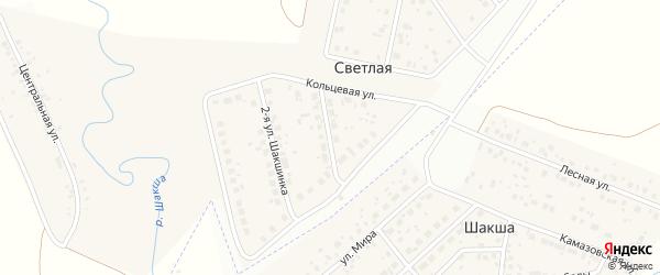 Шакшинка 1-я улица на карте Светлой деревни с номерами домов