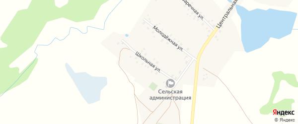 Школьная улица на карте села Старого Мутабаша с номерами домов