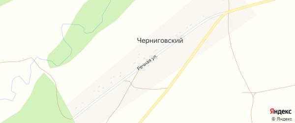 Речная улица на карте Черниговского хутора с номерами домов