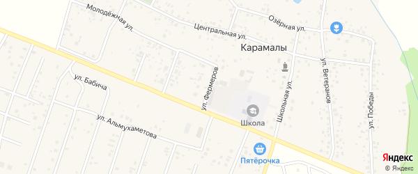 Фермерская улица на карте Уфы с номерами домов