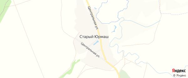 Карта села Старого Юрмаша в Башкортостане с улицами и номерами домов