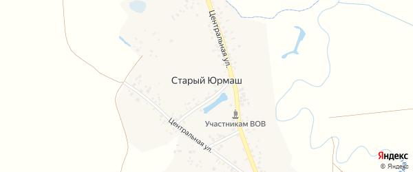 Центральная улица на карте села Старого Юрмаша с номерами домов