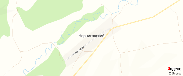 Карта Черниговского хутора в Башкортостане с улицами и номерами домов