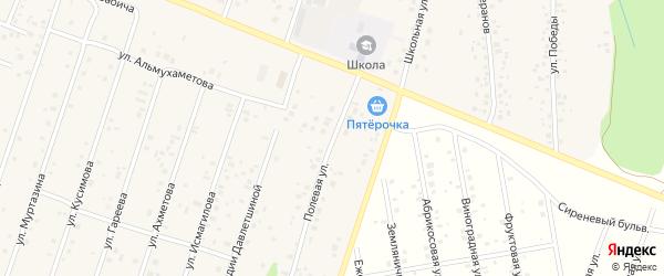 Полевая улица на карте села Карамалы с номерами домов