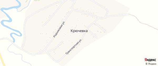Придорожная улица на карте деревни Крючевки с номерами домов