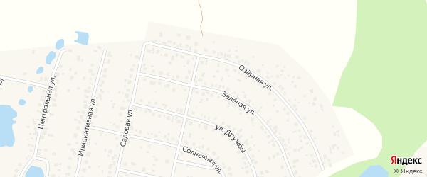 Зеленая улица на карте деревни Дорогино с номерами домов