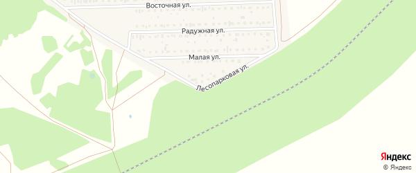 Лесопарковая улица на карте деревни Дорогино с номерами домов