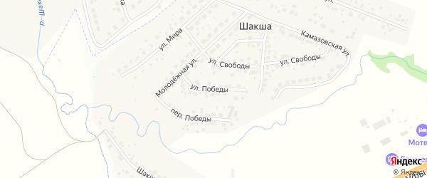 Улица Победы на карте деревни Шакши с номерами домов