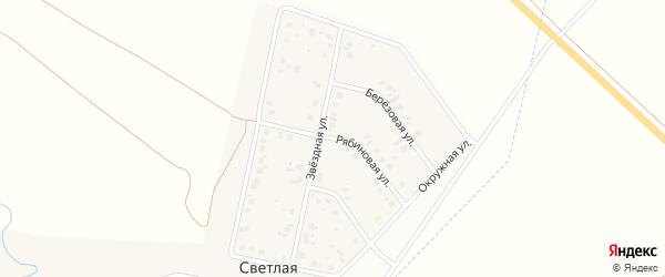 Рябиновая улица на карте Светлой деревни с номерами домов