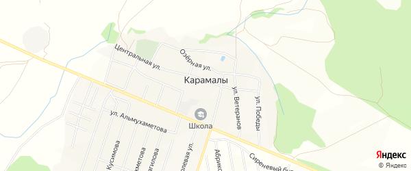Карта села Карамалы в Башкортостане с улицами и номерами домов