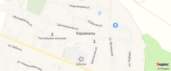 Улица Фермеров на карте села Карамалы с номерами домов