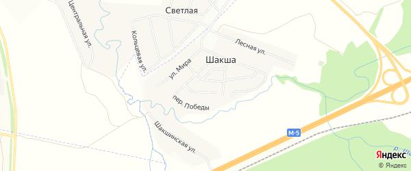 Карта деревни Шакши в Башкортостане с улицами и номерами домов